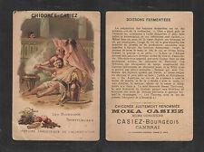 1880s MOKA CASIEZ CHICOREE COFFEE HISTORIC ANTEDOTE FRENCH VICTORIAN TRADE CARD
