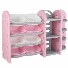 Kids Toy Storage Organizer Corner Rack Bookcase for Girls Gift Toys Bookshelf