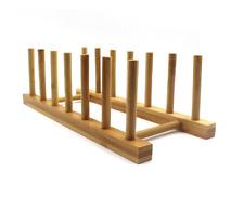 Bamboo Kitchen Dish Plate Book Rack Organizer Stand Storage Holder Kitchen Wood