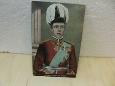 H.M. King Alfons of Spain colour postcard posted August 1909