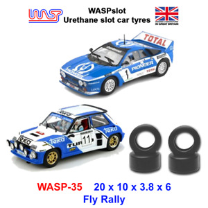 Urethane Slot Car Tyres - WASP 35 - Fly Rally cars, 1/32