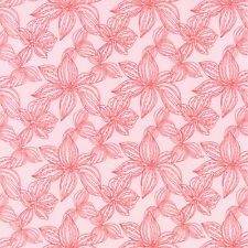 Aria Lily Begonia Pink Floral Cotton Quilting Fabric Kate Spain Moda