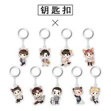 LAY EXO Key Ring 5th Anniversary Q edition Acrylic Pendant  Keychain Gift