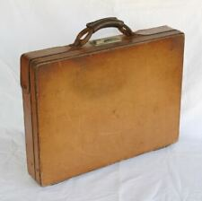 Vintage HARTMANN Luggage Belting Leather Briefcase. Combination Lock Attache