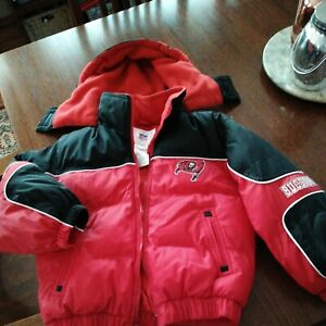 TAMPA BAY BUCCANEERS BUCS HOODED PUFFER JACKET COAT YOUTH BOYS SIZE Sm 6/7