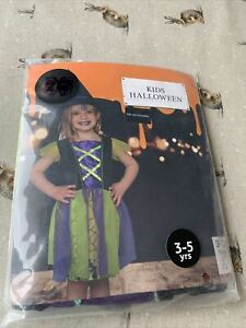 New Kids Halloween Witch Costume For Girls Available In Sizes 3-5 Years