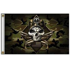 HOMELAND SECURITY 2ND AMENDMENT CAMO SKULL (3' X 5') FLAG