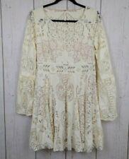 Women's Free People Cream Bell Sleeve Lace Dress 12