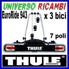 Portabici Thule Per gancio traino - Thule EuroRide 943 (spina 7 poli) x 3 bici
