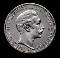 Germany. Prussia. Wilhelm II (1888-1918) 3 Mark 1911 A Stunning Rare Silver Coin