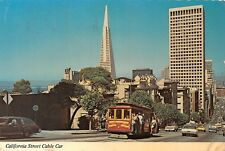 USA California Street Cable Car Tram Auto Voitures Nob Hill Financial District