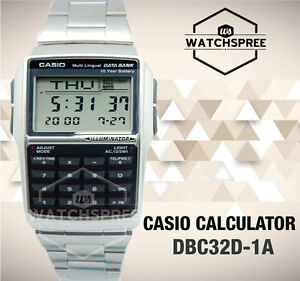 Casio Multi-Lingual Data Bank Watch DBC32D-1A AU FAST & FREE