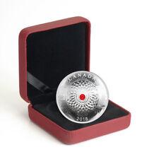 2018 Canada Ornament Made With Swarovski Crystal Concave 1 oz Silver SKU51727