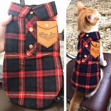 Winter Cat Clothes Plaid Warm Winter Jacket Pet Cat Clothing XS to XL Size