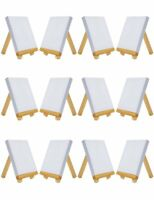 """4"""" by 4"""" Mini Canvas & Easel with 3"""" by 5"""" Tiny Wood Easel  (Set of 12 PCS) New"""