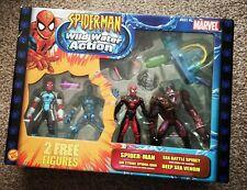 Marvel Spider-Man Wild Water 4 Action Figure Set Sea-Battle, Deep Sea Venom, Air