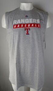 Texas Rangers MLB Majestic Men's Big & Tall Cut-Off Muscle Shirt