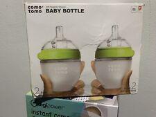 Comotomo Green Baby Bottles - 2 Count