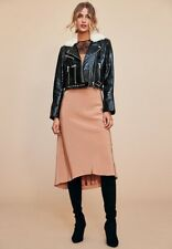 Nour Hammour Patent Lambskin Leather & Shearling Jacket