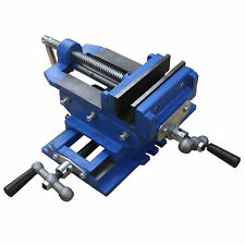 "HFS(R) 5"" Cross Sliding Drill Press Vise Slide Vice Heavy Duty Shop Grip Tools"