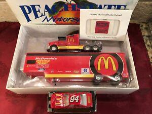 BILL ELLIOTT 1995 #94 McDonalds Racing 1/64 Peachstate Hauler & RCCA HO Car SET