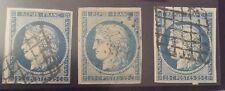 France N° 4 25 c Bleu  Clair Et Fonce TB Cote 205€