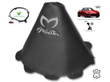 Gear Stick Gaiter For Mazda MX5 Roadster ND 2014-18 Grey Embroidery + Frame