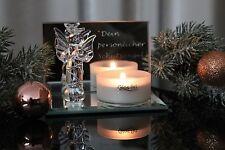 deko Engel Teelichthalter Glas Figur Kerze Teelicht Engelchen Schutzengel
