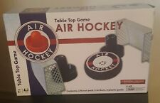 Air Hockey Table Top Game with Hover Puck & Strikers Goals. Used Works. Tested.