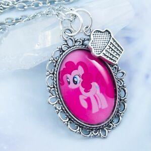 Cupcake Pinkie Pie Necklace - Handmade Jewelry - My Little Pony - Magic