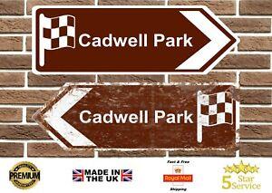 Cadwell Park Circuit Metal Road Sign Vintage Retro Garage Sign Man Cave