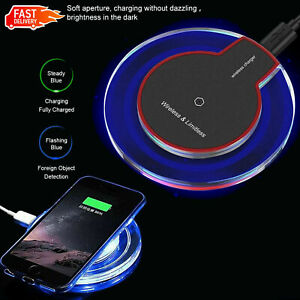 For Apple iPhone 12 11 Pro Samsung S21 S20 Qi wireless charger fast charging pad
