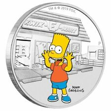The Simpsons - Bart 2019 1oz Silver Proof Coin -the Perth Mint