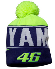 More details for official valentino rossi beanie yamaha team bobble hat mens moto gp vr46 adult