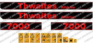 THWAITES ALLDRIVE 7000 DUMPER DECALS STICKER SET