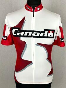 Sugoi Canada Cycling Jersey Men's Size S Rare 7/8 Zip Huge Maple Leaf Bike Shirt