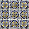 """Ceramic Talavera Mexican Tile 4x4"""", 9 Pieces  A1 Export Quality! - EX-30"""
