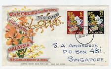 MALAYSIA: 1963 World Orchid Conference first day cover (C24705)