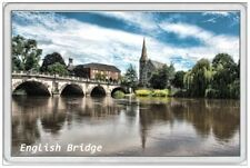 ENGLISH BRIDGE - JUMBO FRIDGE MAGNET - SHREWSBURY SEVERN SHROPSHIRE ENGLAND