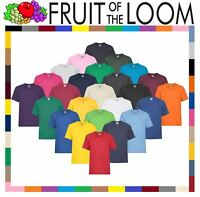 FRUIT OF THE LOOM KIDS BOYS GIRLS T SHIRT TEE - 12 COLOURS ALL AGES 61033