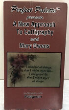 A NEW APPROACH TO CALLIGRAPHY Mary Owens Oil Painting instruction VHS video
