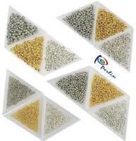 4125 Metallperlen 2/3/4/5mm Spacer Zwischenteile Gold Silber Schmuckbastelsets
