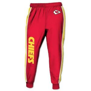 Kansas City Chiefs Casual Joggers Pants Sweatpants Gym Sports Workout Trousers