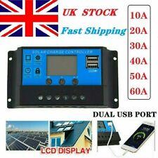 Solar Panel Charge Controller auto Dual USB Battery Regulator  12V 24V PWM UK