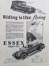 1927 Hudson Essex Super Six 6 Car Riding is like Flying Original Ad