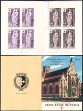 France 1976 Red Cross/Medical/Health/Welfare/Statues/Saints/Art 8v bklt (b4479q)