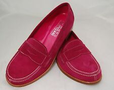 WOMAN - PENNY LOAFER - 37 - FUXIA SUEDE - FUXIA LINING - LEATHER SOLE/BLAKE CST