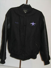 HOLLOWAY BLACK WOOL VARSITY JACKET! DANCING LOGO! MADE IN USA! L