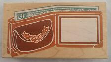 Posh Impressions Z788R Wallet Photo Frame Money Bills Xl Wooden Rubber Stamp