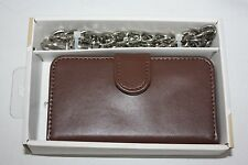 iPhone Chain Wallet Phone Case For iPhone 4/4S  NEW NIB Brown